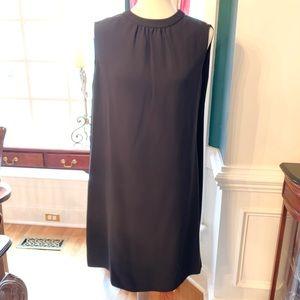 Valentino Black Cape Style Open Back Dress